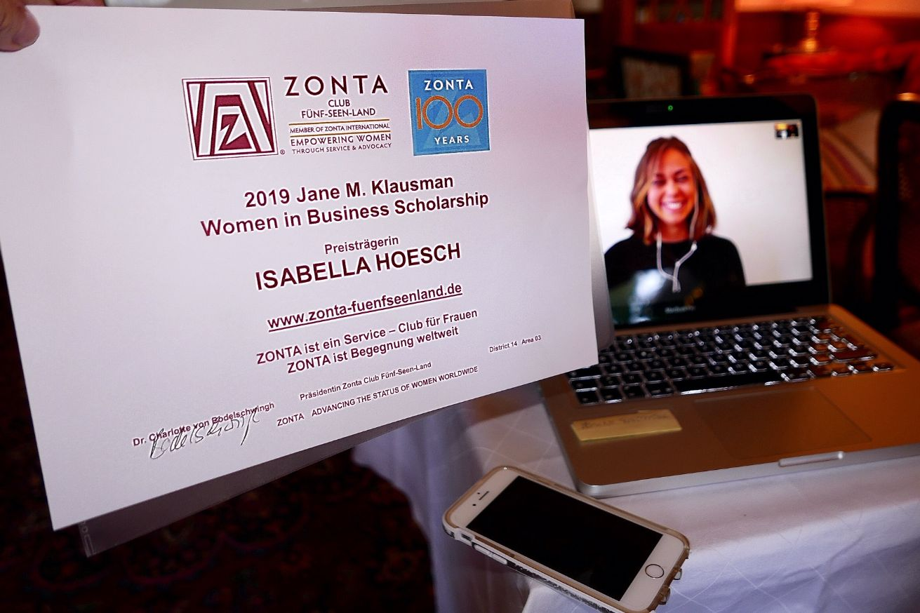 Verleihung JMK 2019 an Isabella Hoesch Zonta